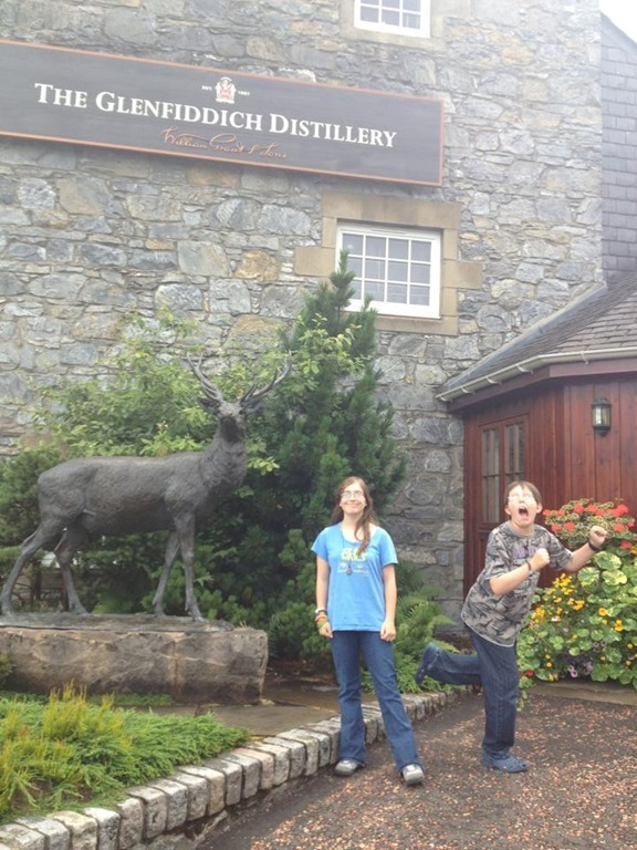 kids at glenfiddich distillery