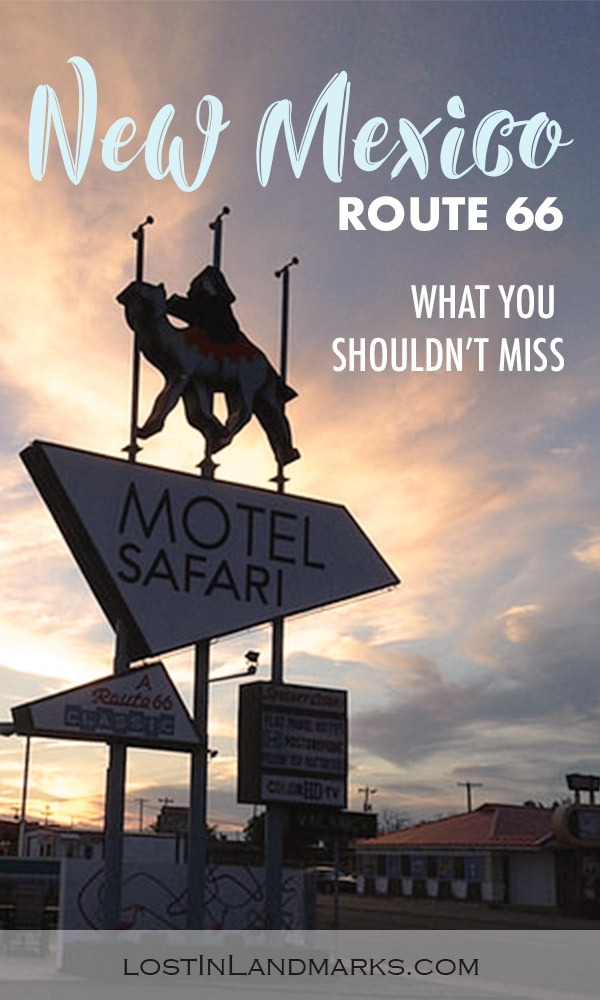things to see on route 66 in New Mexico. There's loads of attractions, retro motels and fun to be had in new mexico from Tucumcari to Gallup! #route66 #newmexico #usatravel