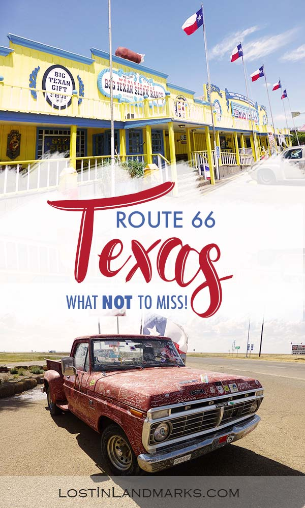 What not to miss when on a road trip and exploring Route 66 through Texas. All the quirky attractions, small towns and sights to see. #route66 #roadtrip #usa #texas