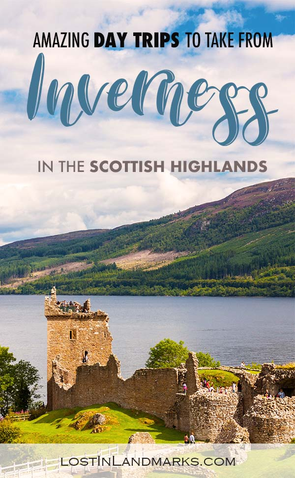 Day trips from Inverness in the Scottish Highlands. Ideas of things to do in Scotland when near the town of Inverness #scotlandtravel
