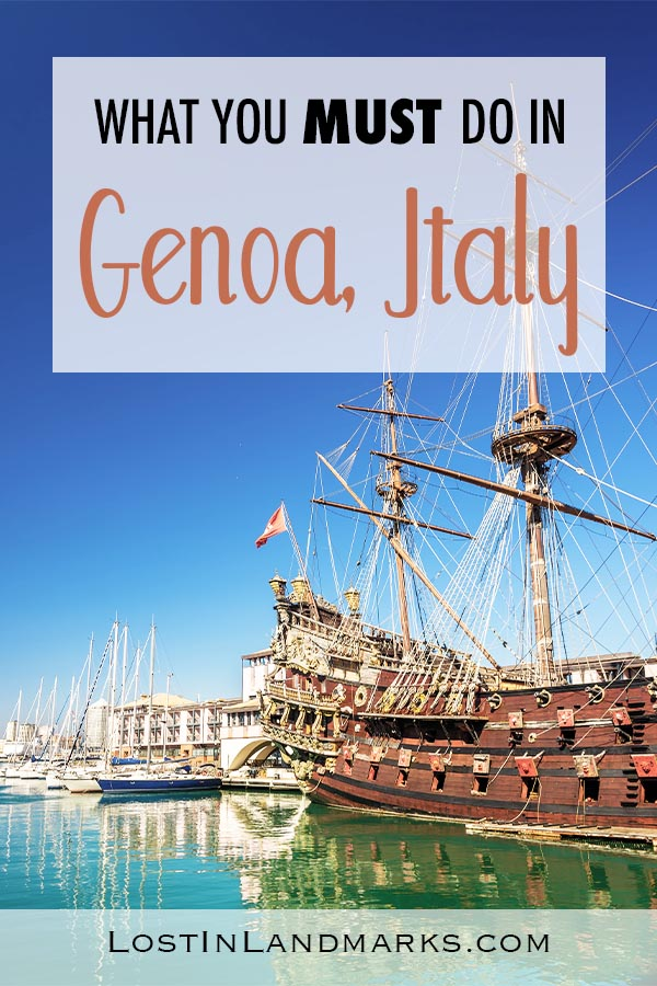 If you only have a day in Genoa here's some ideas of things do and see in the italian city. Genoa is a also popular cruise stop so one day itineraries are especially helpful. #italytravel