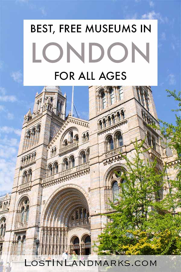 London is great for museums and galleries especially as many are free. They are a great choice for visiting London with kids and there's so many to choose from! From the Natural History museum to the British Museum - add them on your London Bucket list! Free London Museums | Family friendly London | Budget London things to do