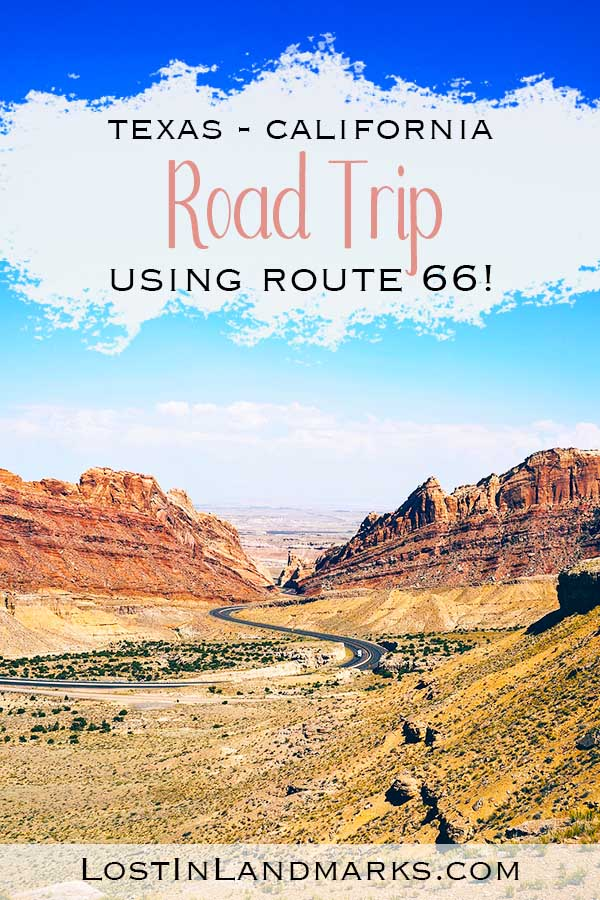 Tips for doing a road trip from Texas to California, where to stay and what to do. We went from Dallas to the border of California along Route 66 taking in retro towns and also national parks, including a side trip to the Grand Canyon. #USAtravel #roadtrip #Route66