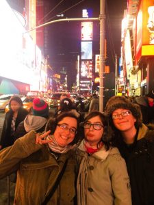 nyc times square with kids