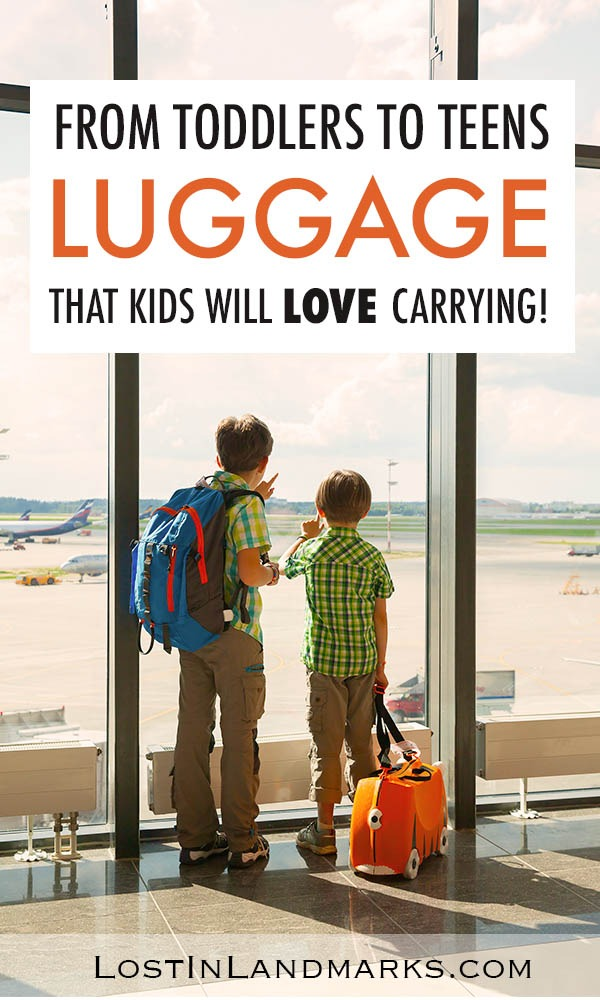 Choosing the best luggage for kids can be a headache. here's  some of the best suitcase options whether you're buying for toddles, teens, tweens or anything in between!  Make them super happy to carry their own luggage and travel bags