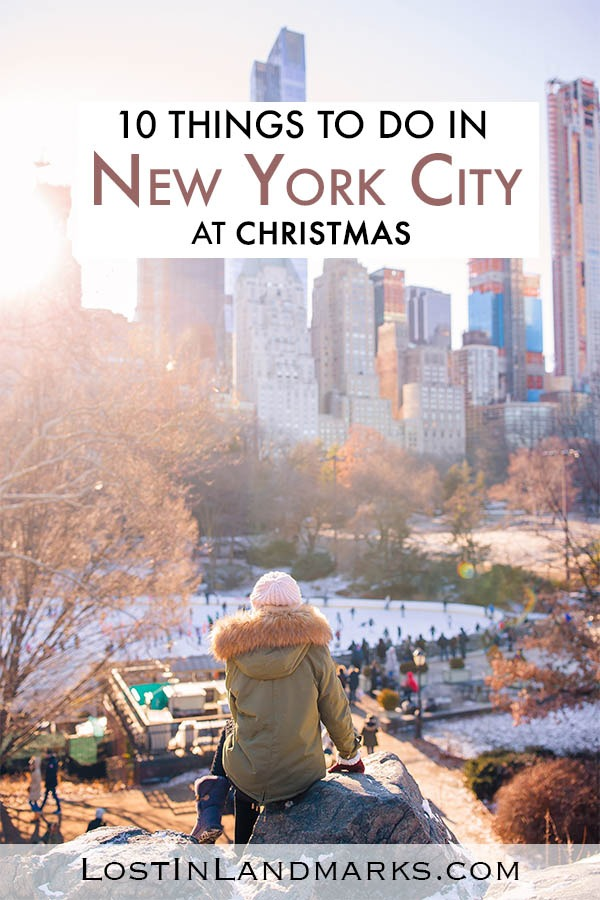 New York City at Christmas is a dream come true. From Ice skating in Central Park to shopping on 5th Avenue - here's 10 things to do in New York City at Christmas centred in Manhattan. See the xmas lights. Tips for Xmas NYC vacation.