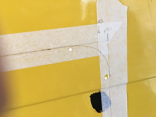 campervan windows marking cutting
