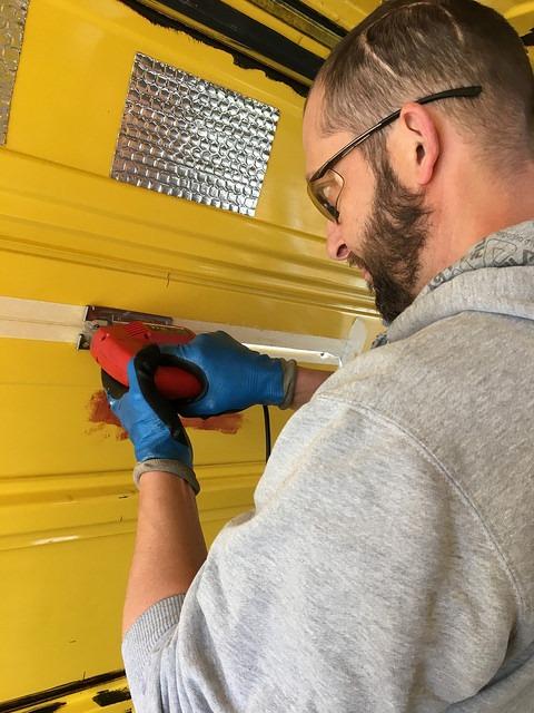 jigsaw cutting panel van window