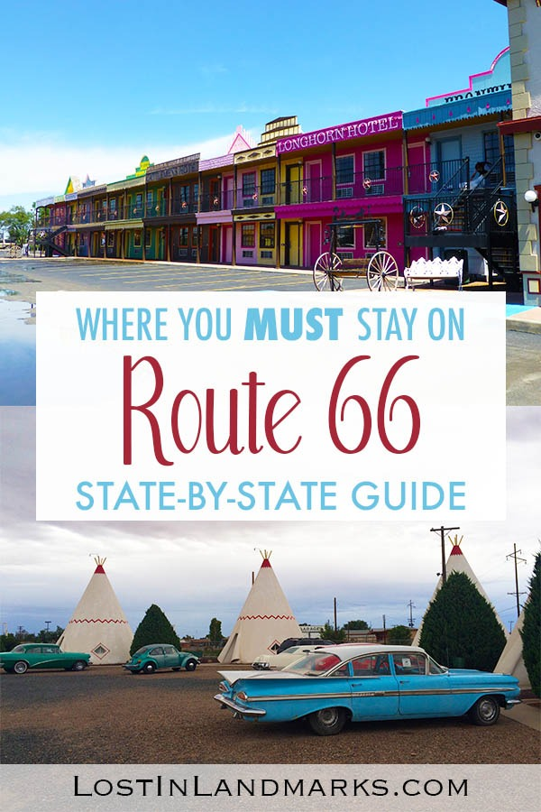 A state by state guide on where to stay on route 66. Full of historic and quirky motels and hotels, mostly mom and pop establishments you'll be in the heart of the history of the mother road. #route66 #usatravel