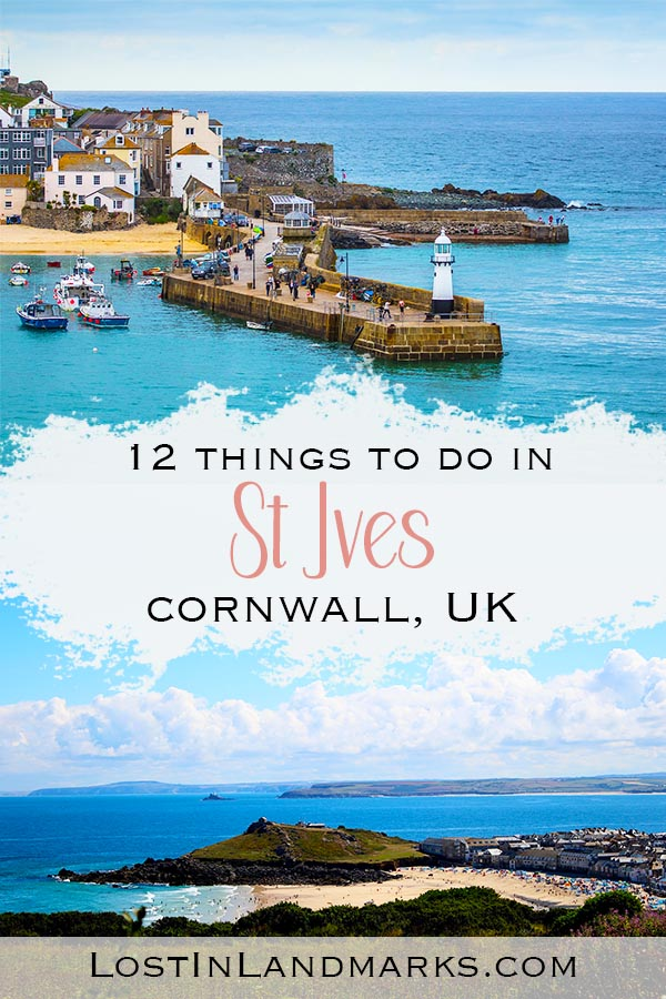Things to do in the seaside town of St Ives in Cornwall, England UK. This beautiful Cornish village is a great place to go when visiting Cornwall in Britain #uktravel