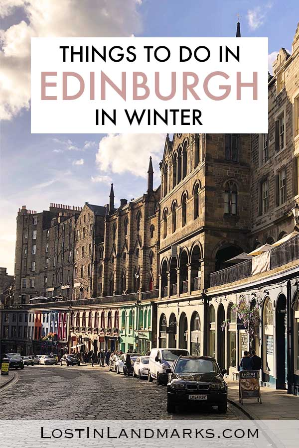 Edinburgh is a wonderful travel destination in winter with plenty to do in the city including the castle, celebrating Christmas and also a giant Hogmanay party (New years). #edinburghtravel #uktravel #wintertravel