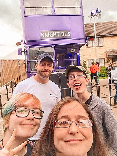 harry potter studio tours knight bus