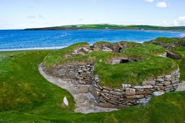stone age village Skara Brae on Orkney, Scotland