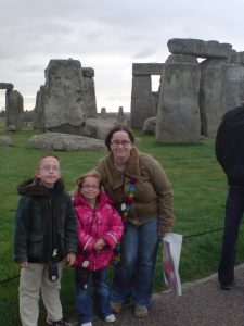 kids at stonehenge