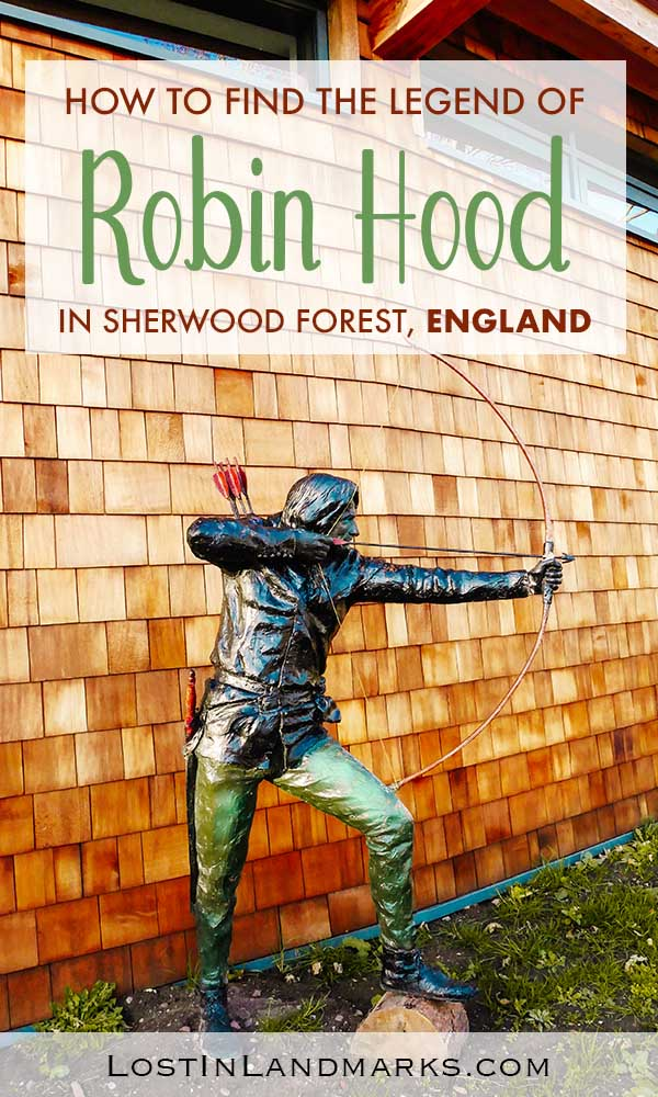 Sherwood Forest is near Nottingham in England, UK . Here's the complete guide to visiting the home of Robin Hood and the Major Oak tree where he had his hideout #robinhood #uktravel