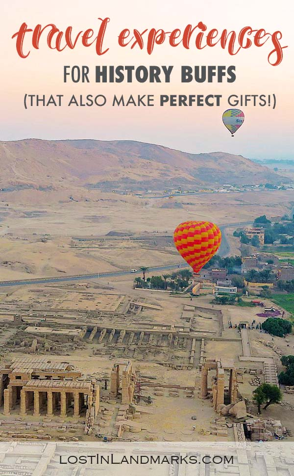 Some great ideas if you need gifts for history lovers. History buffs who also like to travel will enjoy all these tours, trips and gifts. Any history nerd will be so pleased to add them on to their travel trip. #giftsforhistorylovers