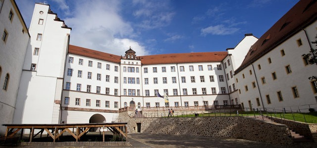 A Panoramic View of Colditz Castle in Germany.