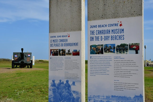 Courseulles sur Mer, France - april 22 2018 : the Centre Juno Beach, D Day Canadian memorial