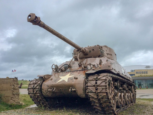 normandy utah beach tank