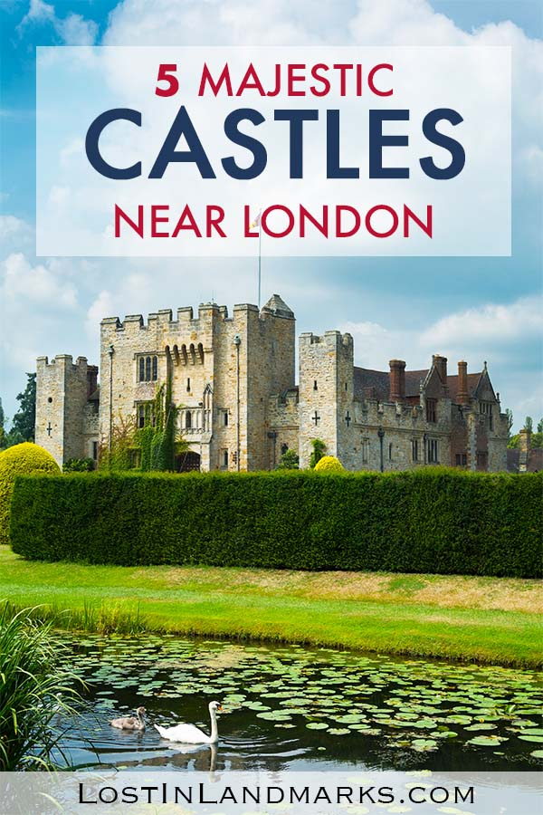 Some of best English castles in the UK are actually near the city of London and they make a great day out during your trip there. Here's 5 of the best UK castles that you can make a day trip from London to see easily. With history, royalty and much more you'll see a different side to your England vacation #uktravel #englandtravel