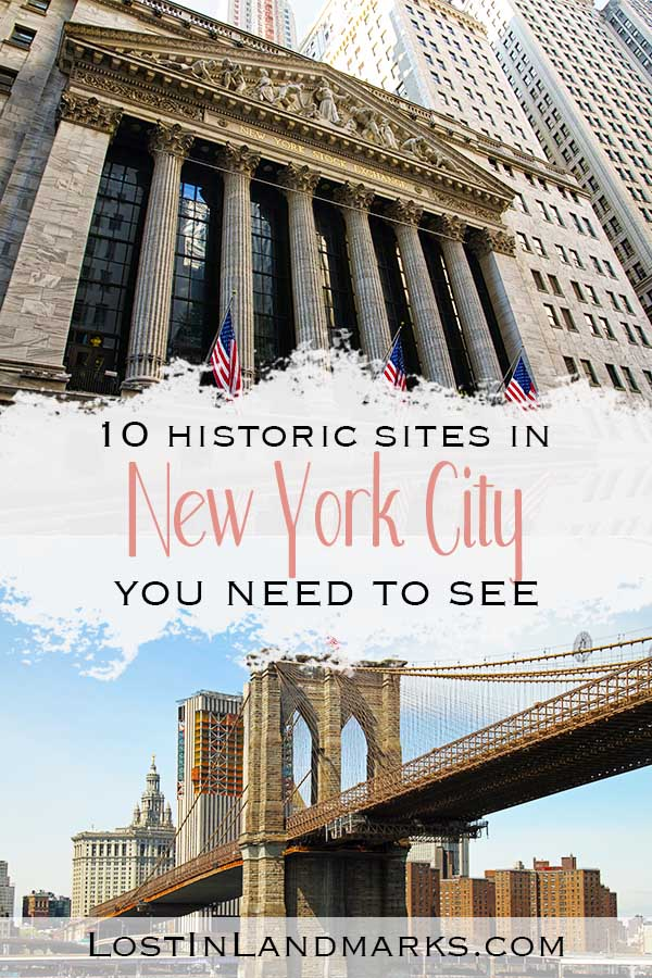 There's so many historic sites in New York City that you'll never be stuck on things to do. Add these must see places in NYC to your bucket list - great for any itinerary whether there for a short weekend city break or a week long vacation. Often the history of New York is glossed over when ticking the items off your bucket list - there's some real gems here!