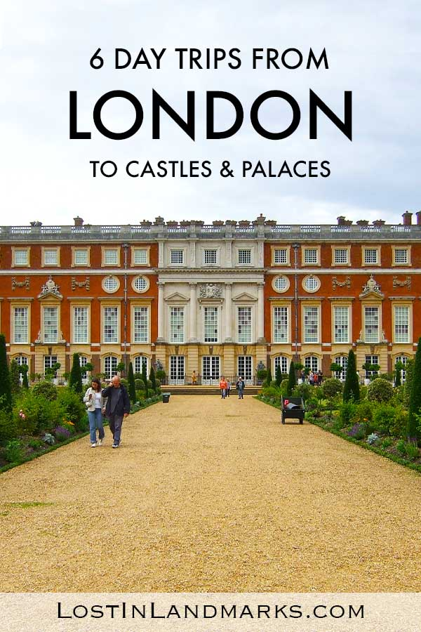 Some of best castles and palaces in the UK are actually near the city of London and they make a great day out during your trip there. Here's 5 of the best UK castles that you can make a day trip from London to see easily. With history, royalty and much more you'll see a different side to your England vacation #uktravel #englandtravel