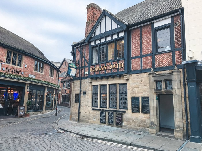 Pub with roman bath house remains in York