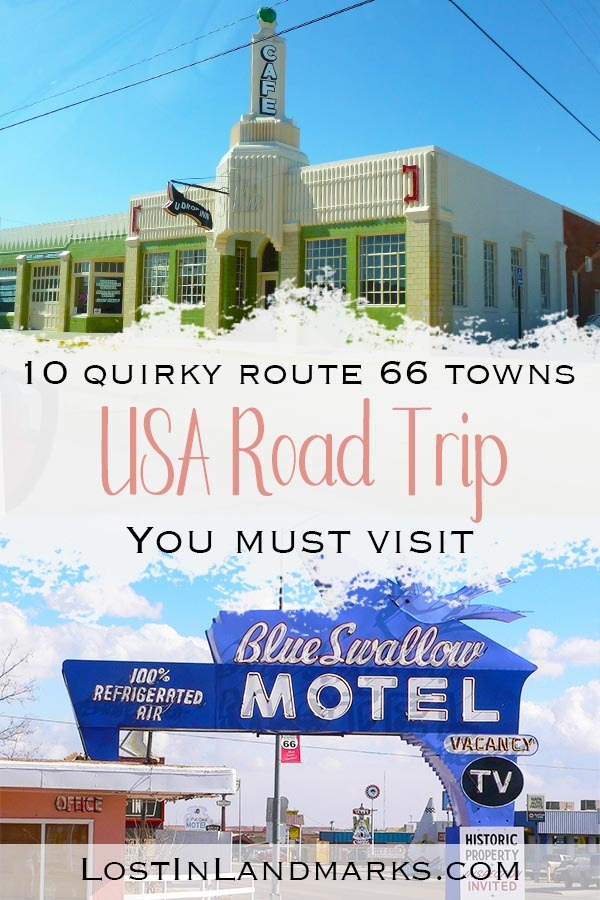 The best towns along Route 66 are often the smallest ones. They have so much character and history you can't help but love them. Often they have museums, traditional motels and retro diners for you to enjoy and really get the full Route 66 experience. #route66