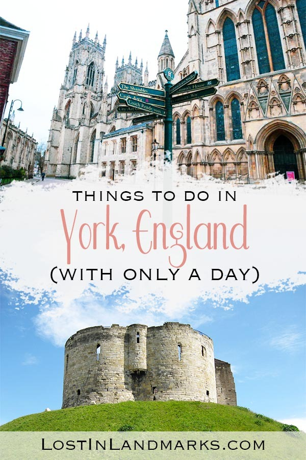 One day itinerary for York, UK. What to do with only 24 hours in this historic city in the North of England. Attractions and historic sights are top of the list of what to see! #uktravel #englandtravel