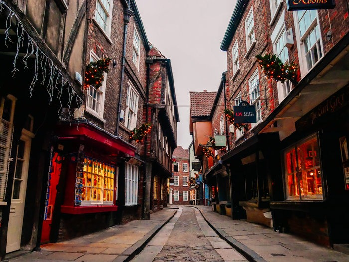 An early morning at York shambles on our day trip