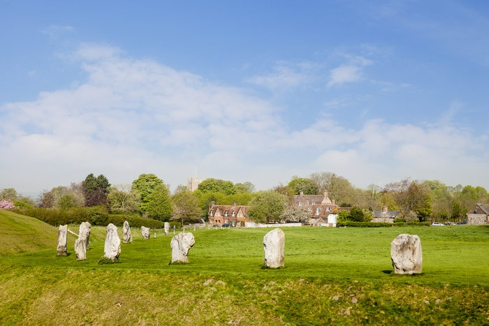 Avebury Stone Circle and Village, Wiltshire, England