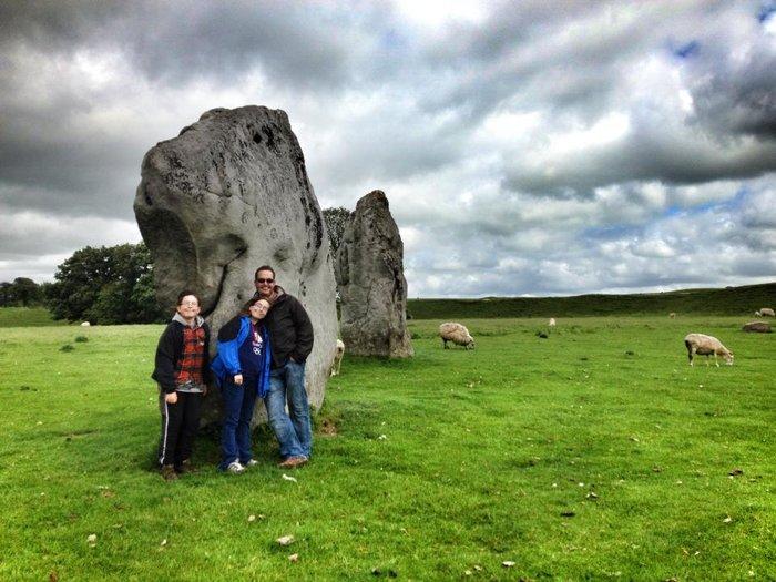 Standing stones in Avebury stone circle