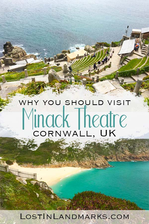 Minack Theatre in Cornwall, UK is a must see attraction that is not only quirky but full of history too. You can just visit the site or visit a play with the view of the sea beyond. One of our favourite things to do in Cornwall, England and there's even a beautiful beach nearby too.