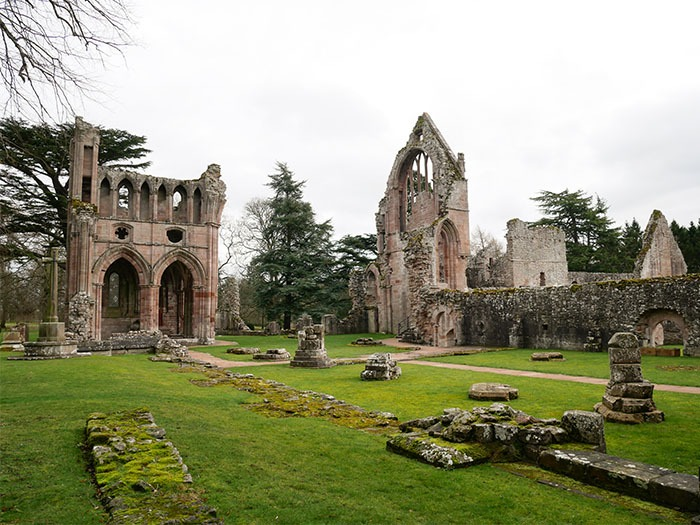 Dryburgh Abbey Ruins in Scotland Borders