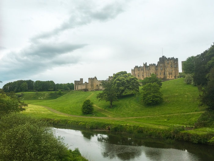 Alnwick Castle and river