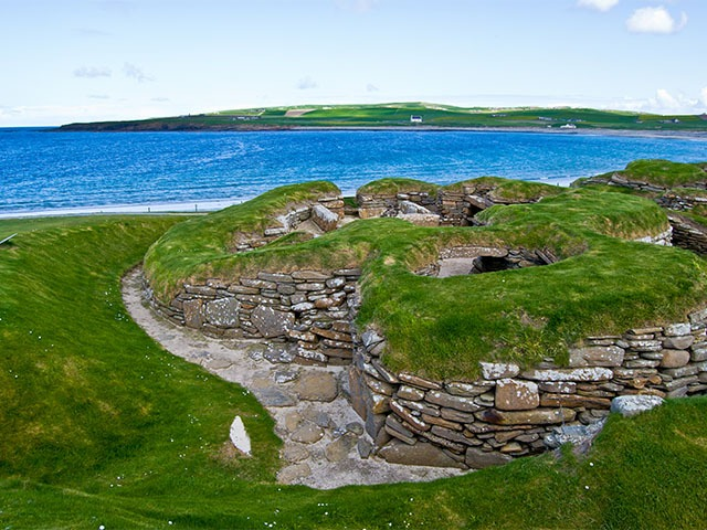 Skara Brae ancient village in Ornkey Scotland