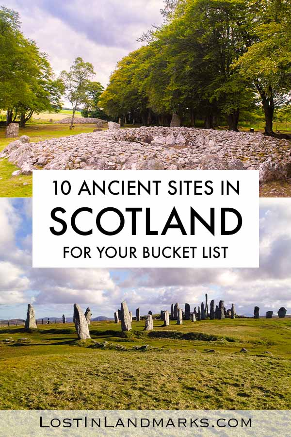 Stone circles, ancient villages and burial cairns can all be found within Scotland. Here's a guide to the best ancient sites in Scotland and some are even the inspiration for Outlander TV series standing stones called Craigh na Dun. Including Callanish, Skara Brae, Clava Cairns, Ring of Brodgar and much more! Standing stones are so mysterious!