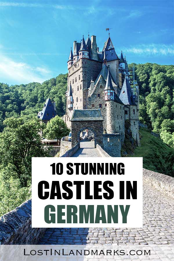 10 of the best and most beautiful castles in Germany for your European vacation. From Neuschwanstein to Eltz castle and so many more whether you like the interiors, the history or just the fairytale like beauty you'll find some great examples of German castles here.