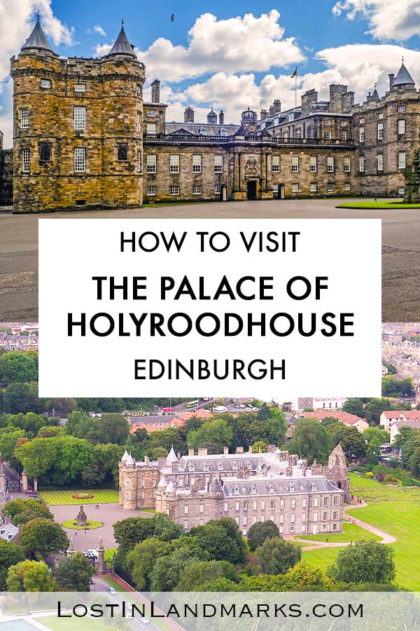 Holyrood Palace is the Royal residence of the Queen when she's in Scotland - visiting the Palace of Holyrood House is a must see activity when vacationing in Edinburgh, Scotland especially for fans of the Royal Family and Queen Elizabeth II. You can tour the palace interior, the abbey and also the gardens. Royal history fans will love it!