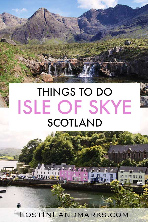 The Isle of Skye in the Highlands of Scotland is a great vacation destination or even day trip from Edinburgh or Inverness. Here are some of the best things to do on the island with attractions such as castles, beaches, whisky distilleries, hiking walks and fairy pools. It's a great Scottish island for all types of travellers.