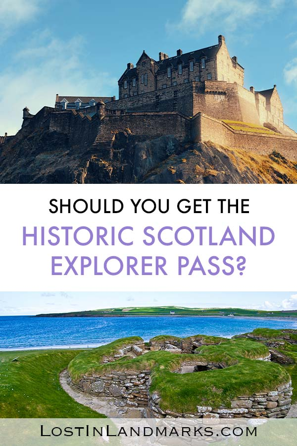 When visiting Scotland there are so many castles and historic sites to see. The Historic Scotland Explorer Pass is a great way to save money on admission to some of the big sights including Edinburgh Castle, Stirling castle and many more. From abbeys to historic houses to medieval castles and prehistoric villages you'll find so much to do on your trip to Scotland