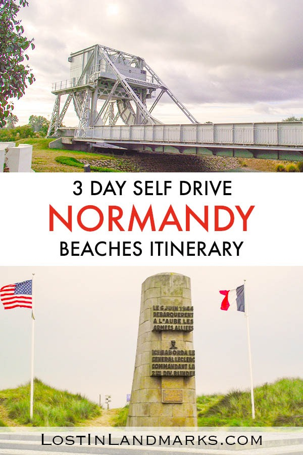 3 day self drive itinerary for exploring the Normandy beaches in France. These beaches saw action in WW2 and many museums, graveyards and monuments can be found now along the coast. If you only have 3 days in the area here's what you should do. Northern France itinerary | WW2 France itinerary | Normandy self drive tour | Normandy 3 day itinerary
