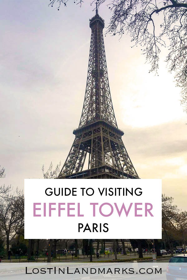A guide to visiting the Eiffel Tower in Paris, France - one of the most iconic landmarks in the world. The history behind the tower, how to visit and what you can do there. Eiffel tower in Paris | Bucket list Paris | France landmarks | Climbing the Eiffel Tower | Tickets for the Eiffel Tower